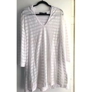 White Vince Camuto XL Beach Cover up